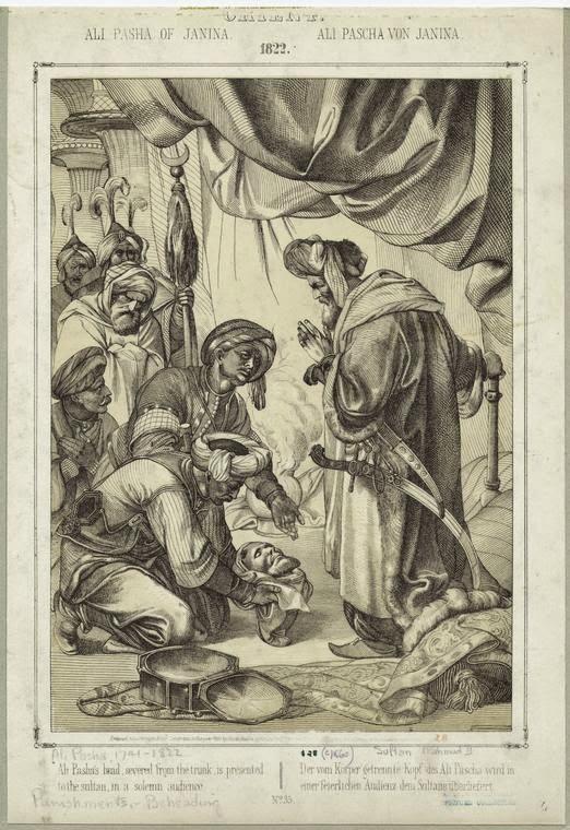Ali. Pasha's head being presented to Sultam Mahmud II