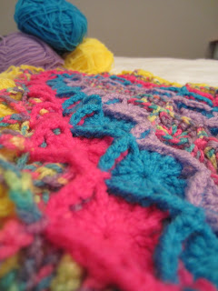 Close up of stitches of wool eater blanket