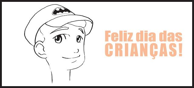 Ilustração feita em comemoração ao dia das crianças por Rodrigo Otäguro