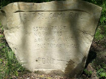 Inscripció gravada a prop del Pont del Camí Ral