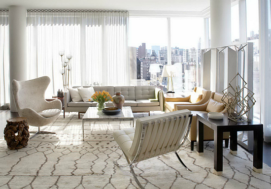 Manhattan apartment by neal beckstedt studio for Living room 86th street