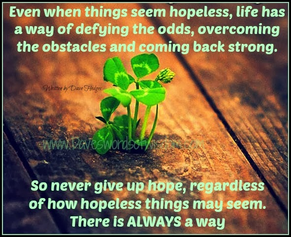 Poems About Never Giving up Hope Never Give up Hope
