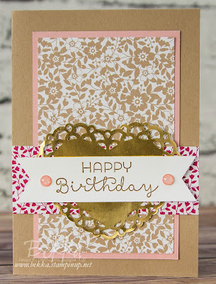 A Love Blossoms Birthday Card two ways - check it out here