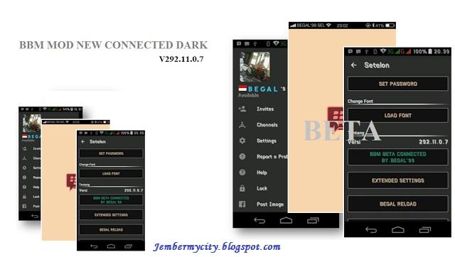 BBM CONNECTED DARK V292.11.0.7 Apk