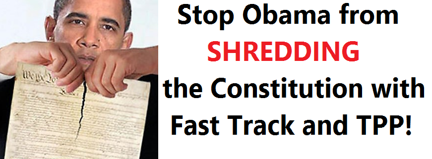 Stop Obama from Shredding the Constitution with Fast Track and TPP!