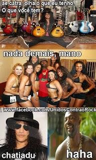 Mr. Catra vs Rockeiro - eu tenho guitarra e você... Eu tenho mulheres
