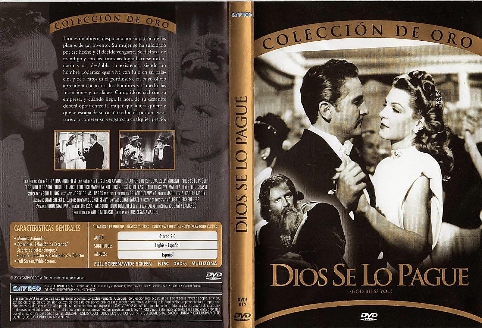 Dios se lo pague (1948) - Caratula