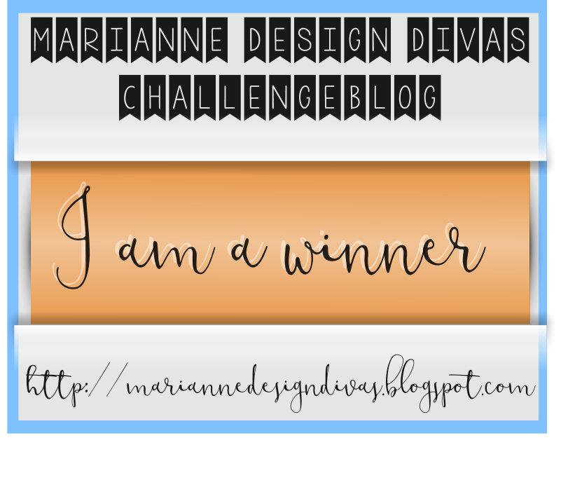 Challenge #16 bij Marianne Design Divas gewonnen
