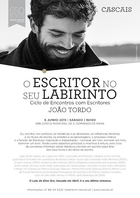 """No """"labirinto"""" de João Tordo"""
