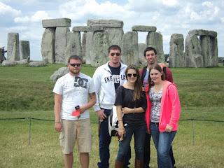 The Study Abroad program stops at famous landmarks like Stonehenge.