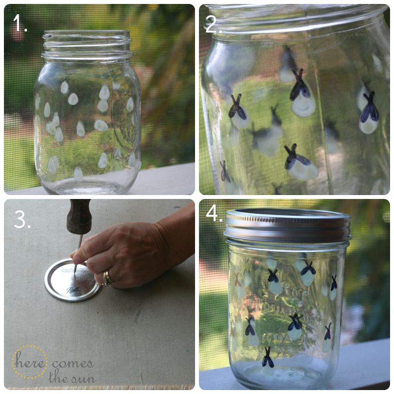 glow in the dark firefly jar here comes the sun. Black Bedroom Furniture Sets. Home Design Ideas
