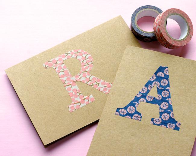 DIY Monogram Note Cards