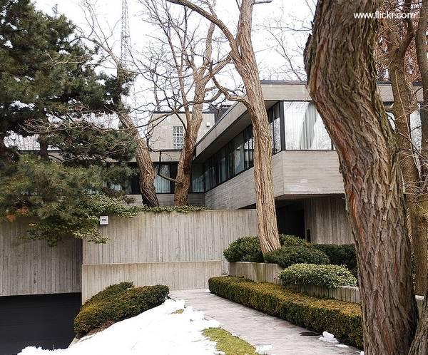 Casa moderna de estilo Brutalista