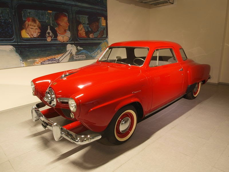 The 1950 Studebaker Champion Regal DeLuxe Starlight Coupe.