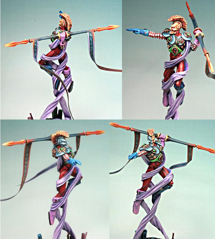 Alternate models for Eldar wraithguard Harliquin+Avatar