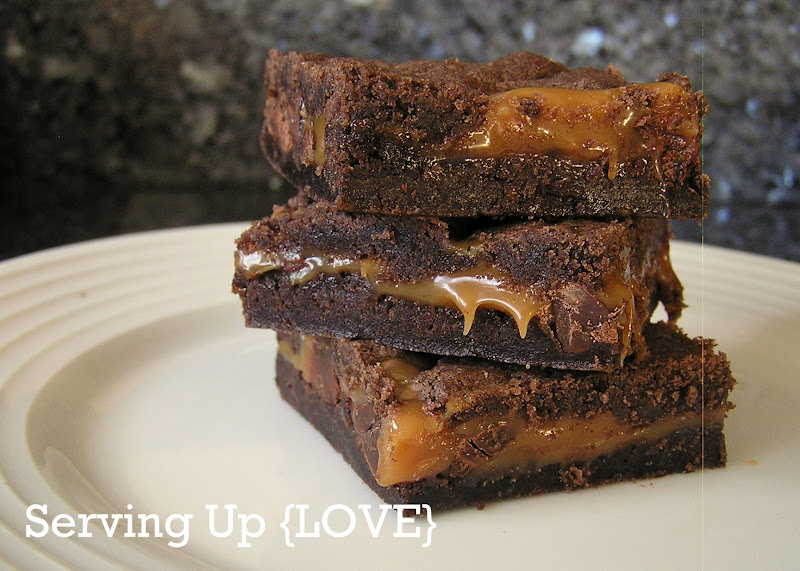 Katherine's Kitchen: Serving Up {Brownies}: Caramel Brownies