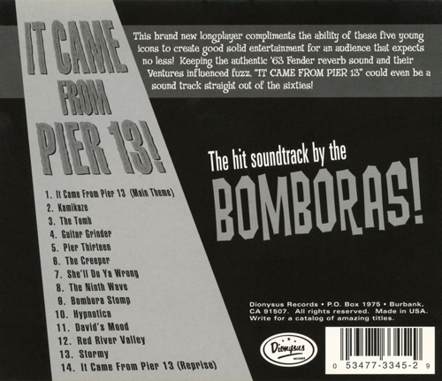 Power Pop Lovers The Bomboras It Came From Pier 13