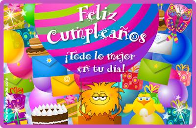 Tarjetas de cumpleaños con lindos mensajes
