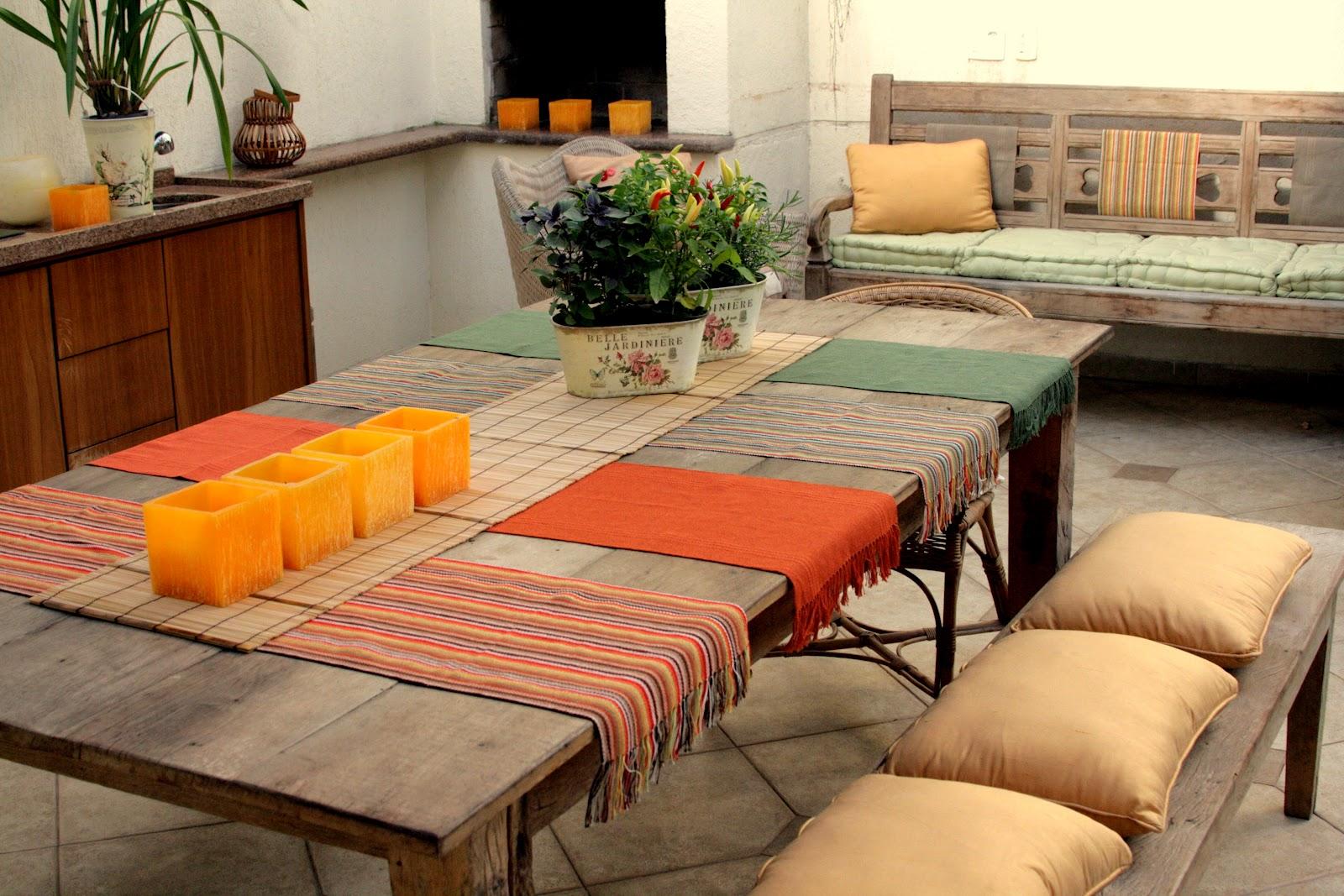 de jantar sala de estar área externa coberta jardim E nada de #B03E1B 1600x1067
