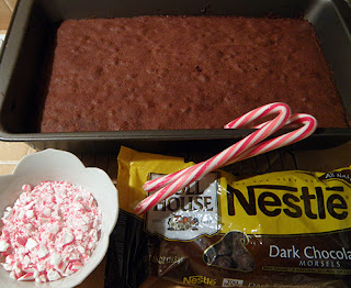 Brownies with Frosting Ingredients