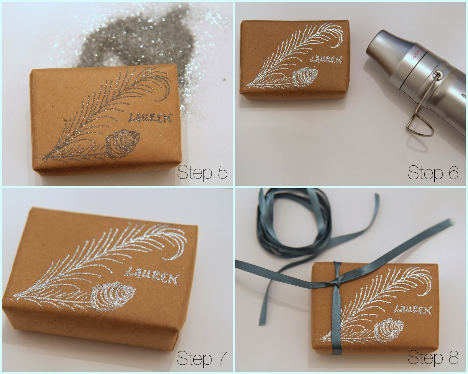 Nora's Nest: Christmas Gift Wrap: Natural-Glam Style