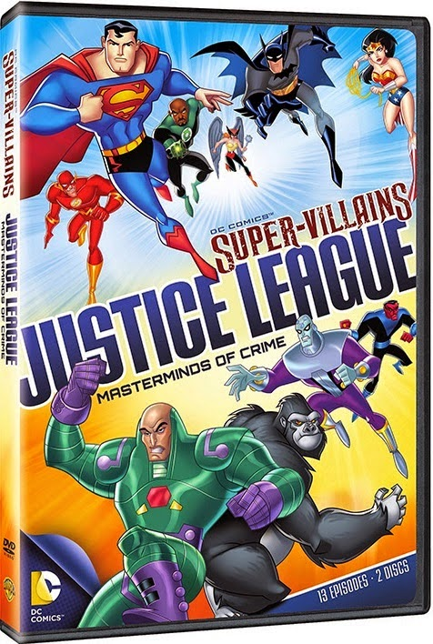 Download – DC Super Vilões Liga da Justiça Mentores do Crime – DVDRip AVI + RMVB Dublado ( 2014 )