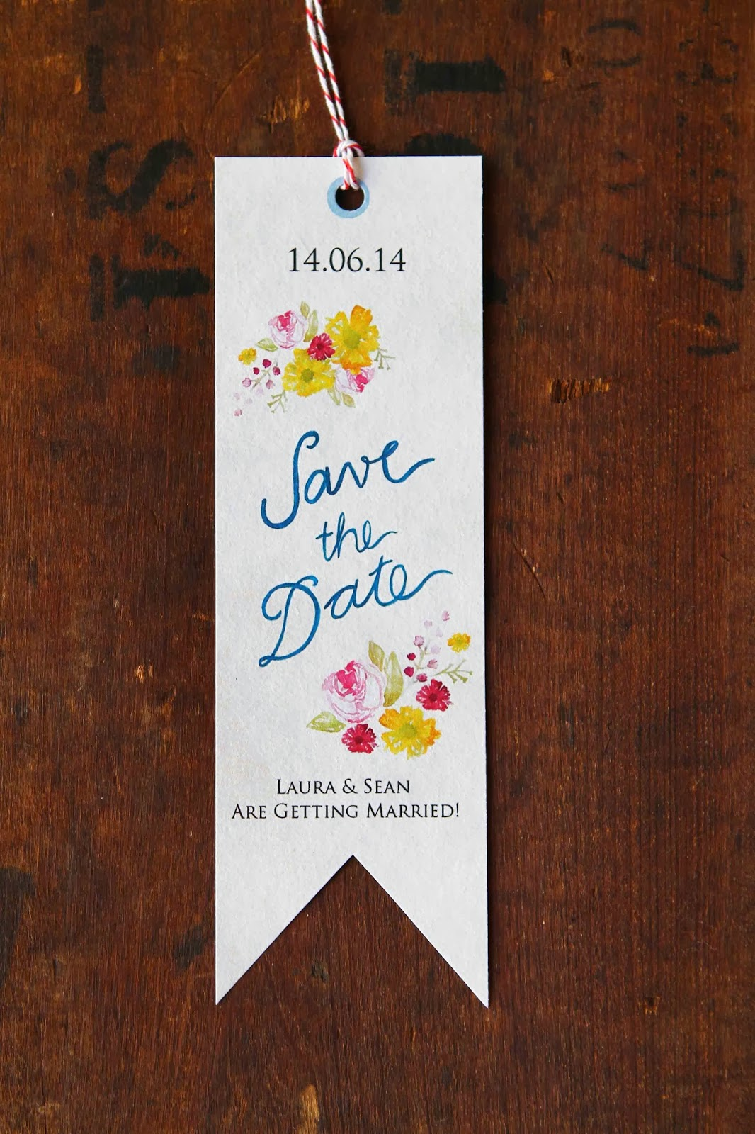 hand painted save the date