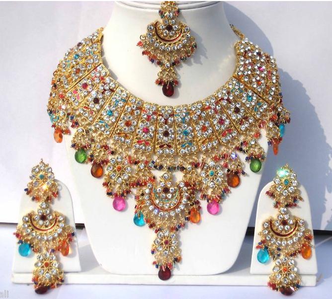 Orientale Mode  Achat Bijoux indien en plaqué or pour femme - Bijoux ... bef3115693bb