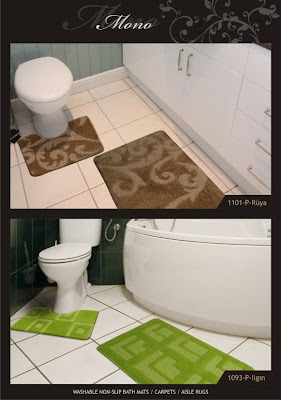 carpets and special bathroom mats