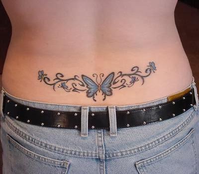 Tatuagens Femininas Tribais no Coccix
