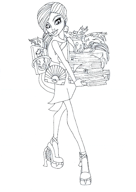 monster high gigi coloring pages - photo#22