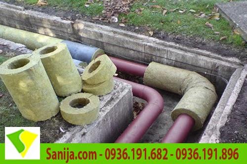 Bông ống định hình bảo ôn đường ống
