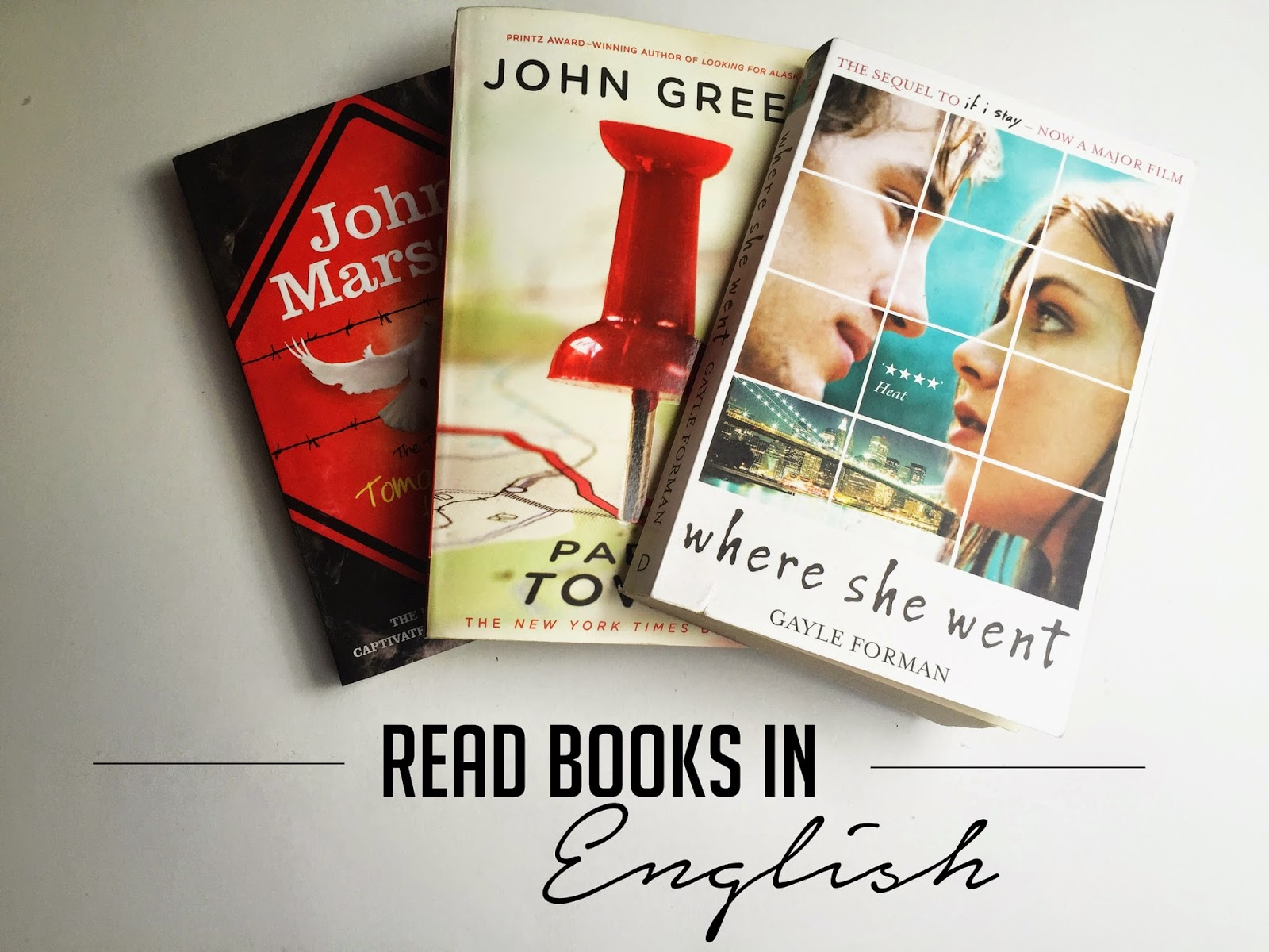 john green, paper towns, where she went, gayle forman, tomorrow