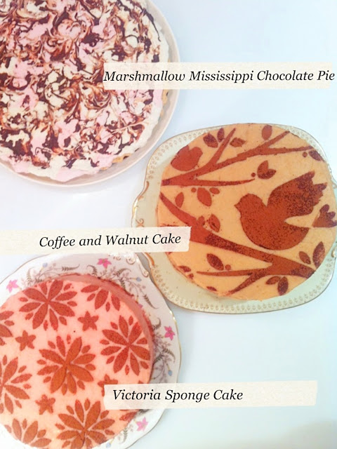 Cherie Kelly's Marshmallow Mississippi Chocolate Pie, Coffee Walnut Cake and Victoria Sponge Cake