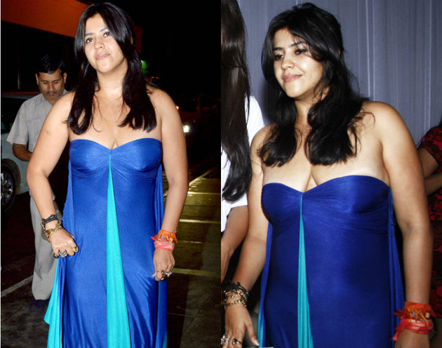Ekta Kapoor Hot Sexy Braless Photos Image Gallery ...