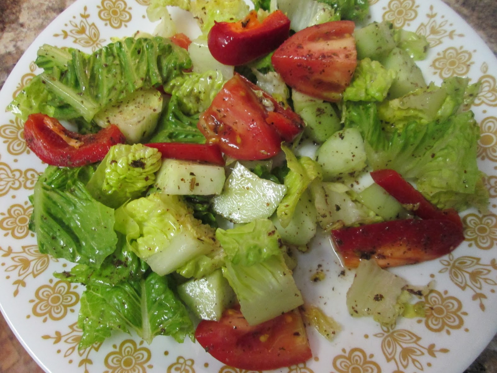 ... that is fattoush salad fattoush is a delicious lebanese salad topped