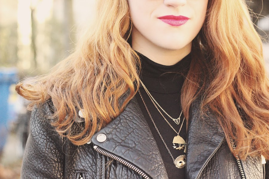 leather jacket roll neck outfit