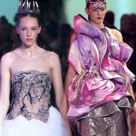 SAIC students, Erika Landry and Joshua Kim embellished their designs with Swarovski Crystals