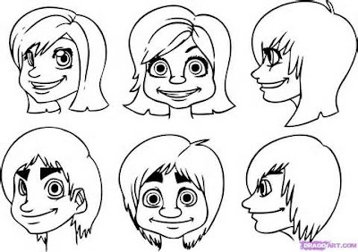Draw Cartoon People Faces
