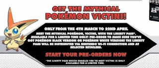 Pokémon Victini Liberty Ticket Distribution Card