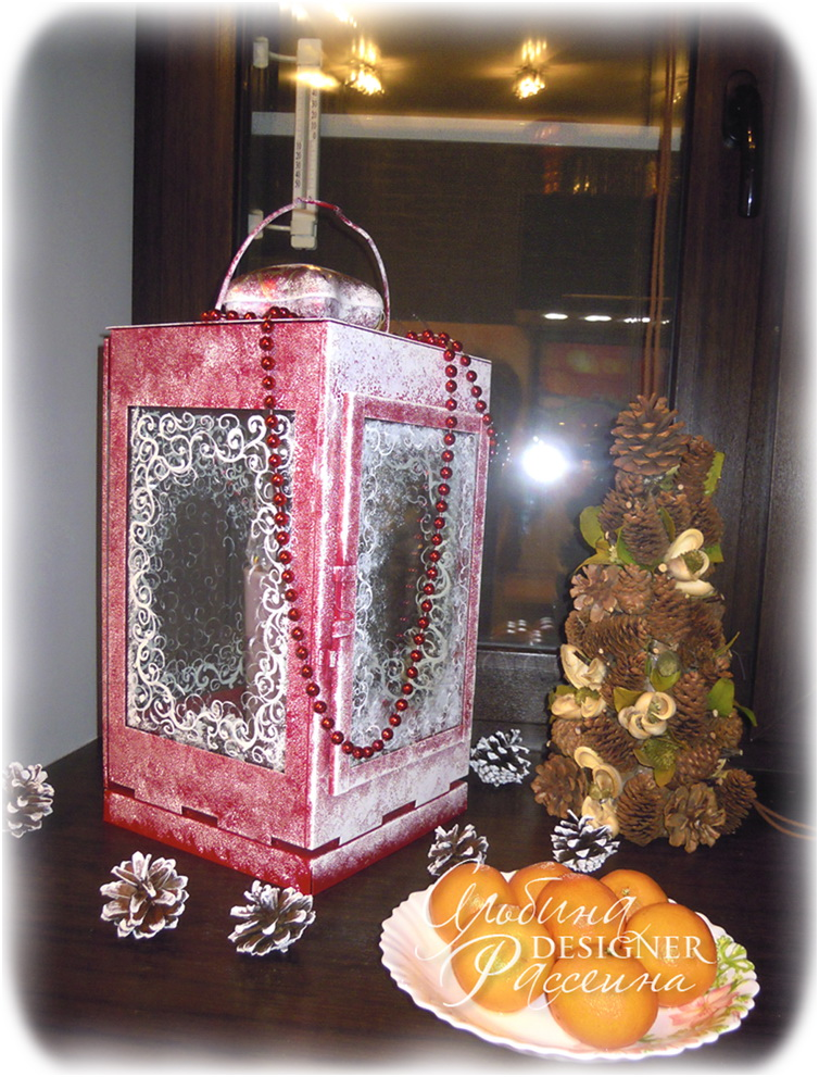 Hand Made. Фонарь для свечи. Декор.