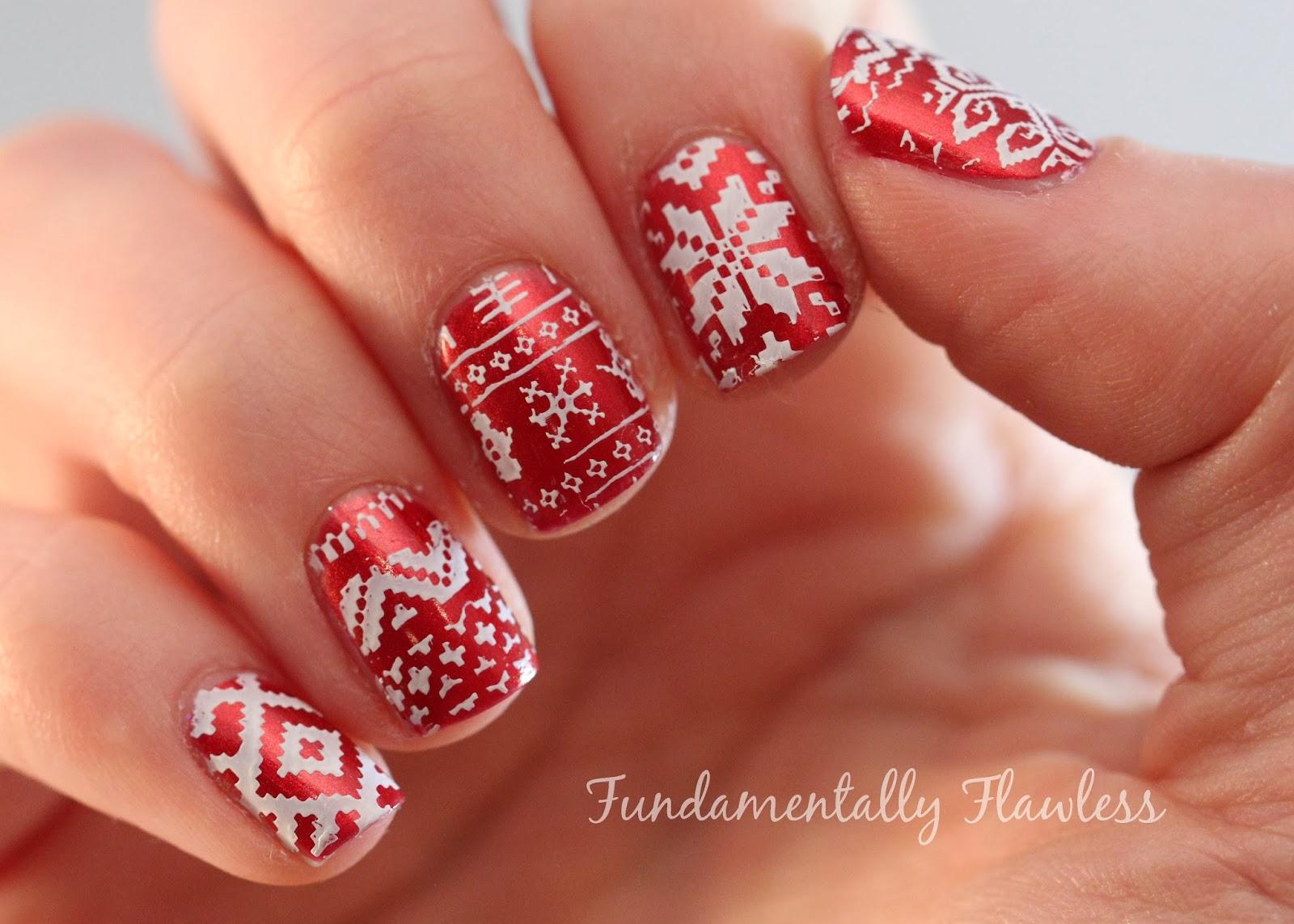 Fundamentally Flawless Christmas Nail Art Christmas Jumper Nails