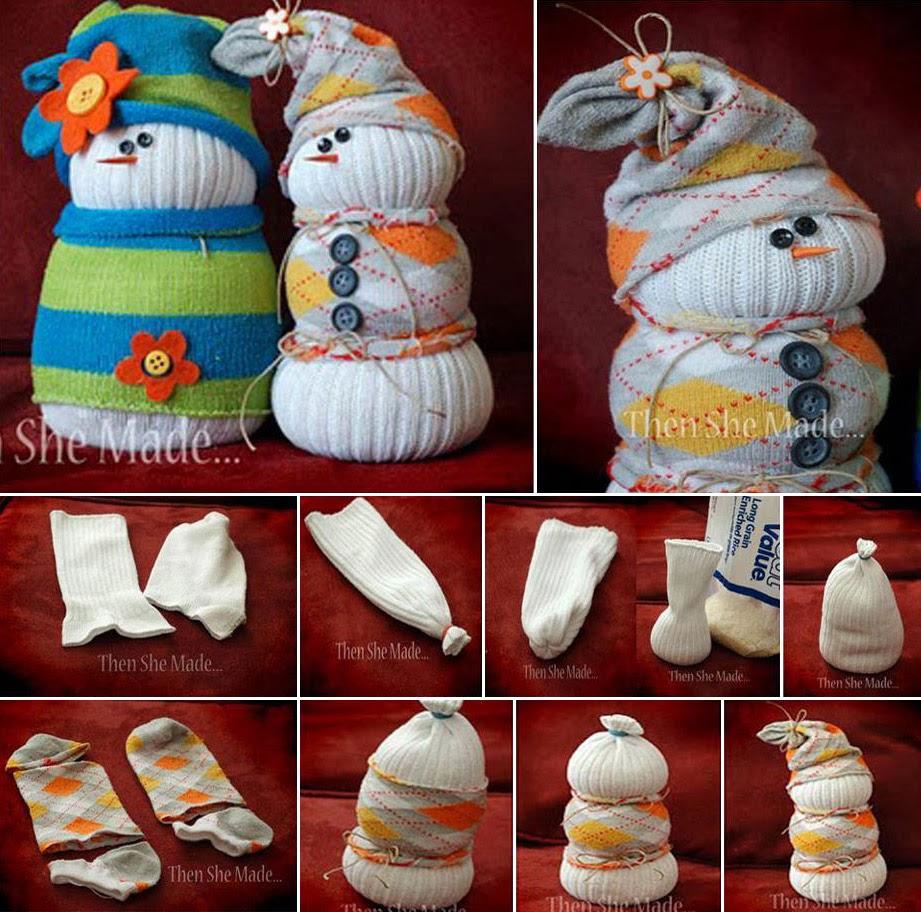 Ideas & Products: DIY ... Sock Snowmen