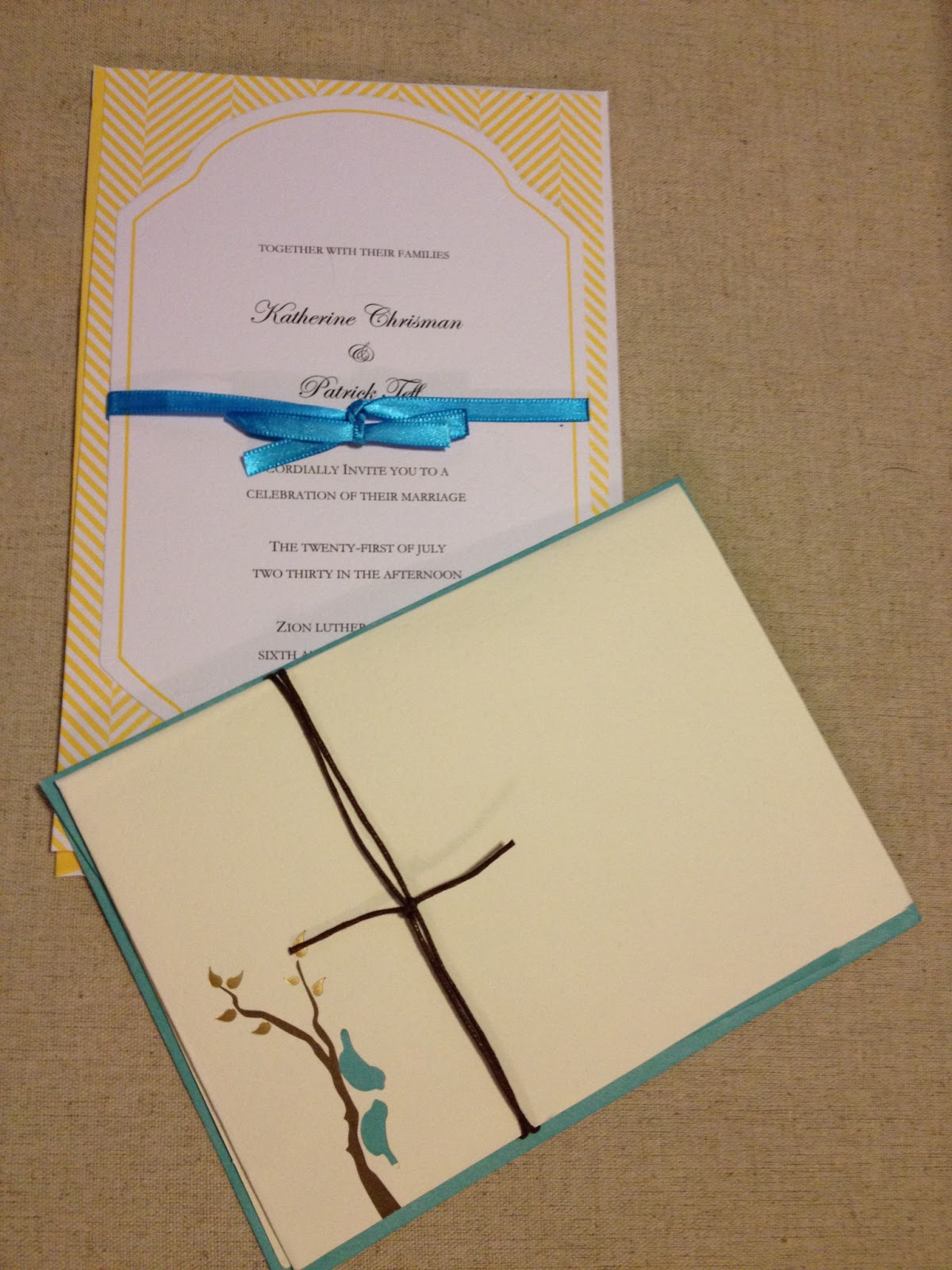 Michaels crafts wedding invitations - The Wedding Invitations We Made From Kits Found At Michael S Art And Craft Supply Store