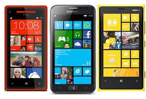 ponsel windows phone 8 terbaik, lumia 920 vs htc 8x, samsung ativ s vs lumia 920