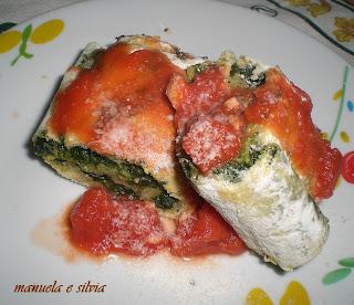 l'evoluzione di una ricetta: strudel croccante di spinaci su salsa di pomodoro