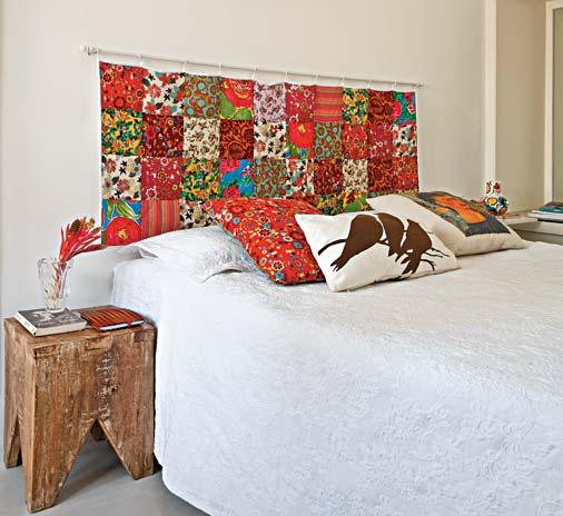 Ateli segredo da arte tecidos na decora o - Forrar cabecero de cama ...