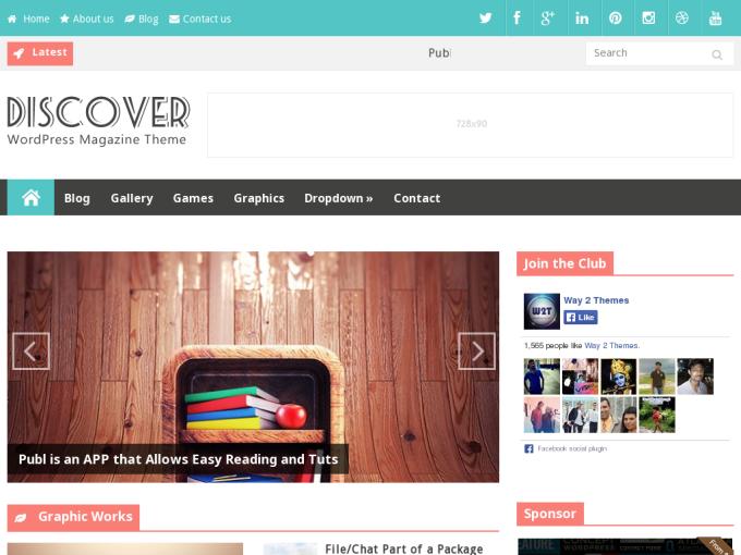 Template Blogspot Discover Responsive tin tức đẹp