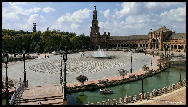 Séville Plaza España place de l'Espagne Parlement Andalou