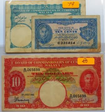 Malaya $10 1941 H/20 065698